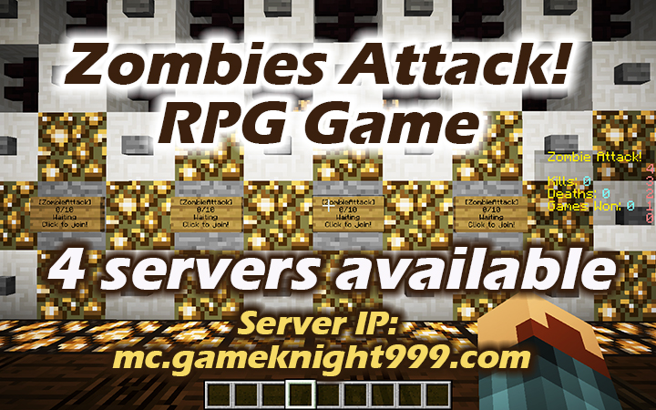 Zombies Attack! RPG game now has 4 servers! | Game Knight 999 Server